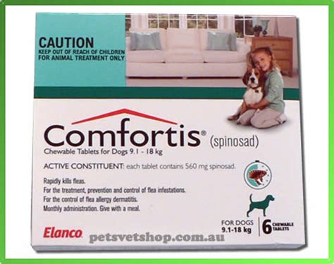comfortis for puppies comfortis flea treatment for medium dogs 9 1 18 kg 20 1 40 lb green