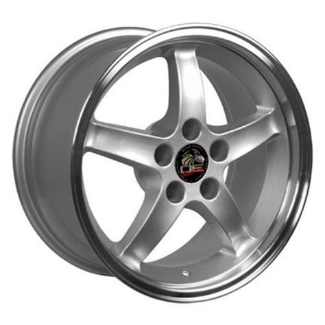 cobra r wheels ford mustang cobra r style replica wheels silver 17x10 5