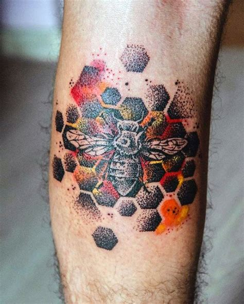 3d tattoo honeycomb 50 bee tattoo designs for men a sting of ink ideas