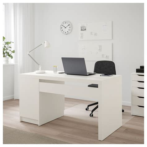 Malm Desk White 140x65 Cm Ikea White Malm Desk
