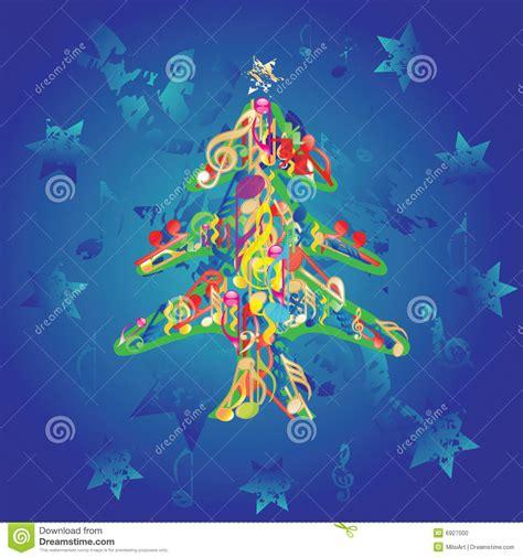 imagenes navidad musical 193 rbol de navidad musical ilustraci 243 n del vector imagen de