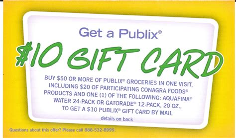 Where To Buy Publix Gift Cards - publix conagra gift card offer select states faithful provisions