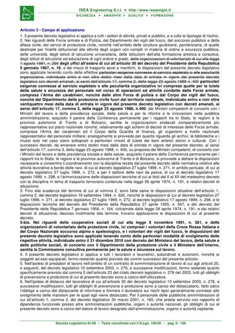 testo unico 81 08 testo unico sicurezza dlgs81 2008 coordinato 106 2009