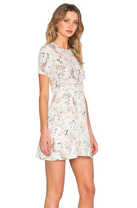 the dress the kooples floral dress in white lyst