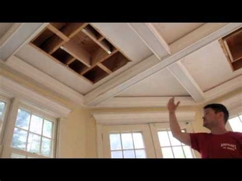 Building A Sunroom Casual Coffered Ceilings Youtube