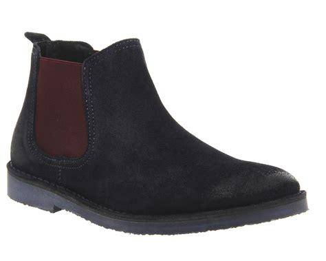 mens burgundy chelsea boots mens ask the missus chelsea boots navy suede