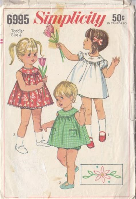 pattern emporium trapeze sweet girls vintage 60s dress sz 4 retro simplicity