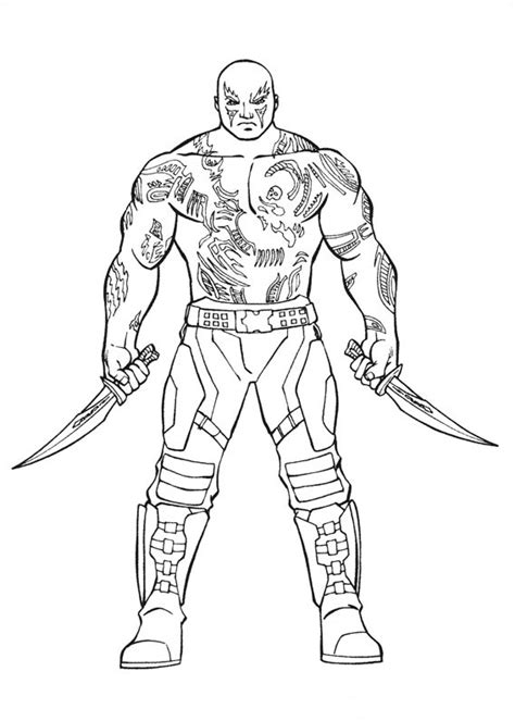 drax  destroyer coloring page  printable coloring