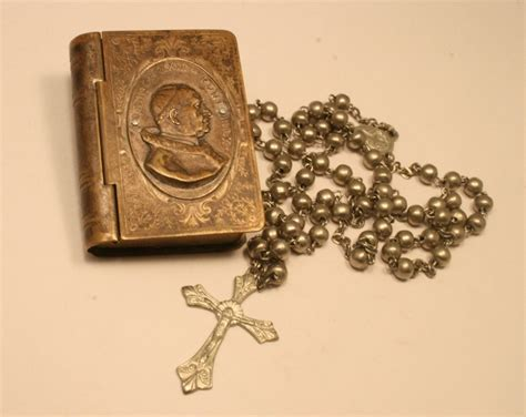 rosary bead cases vintage rosary and pope xxiii souvenir