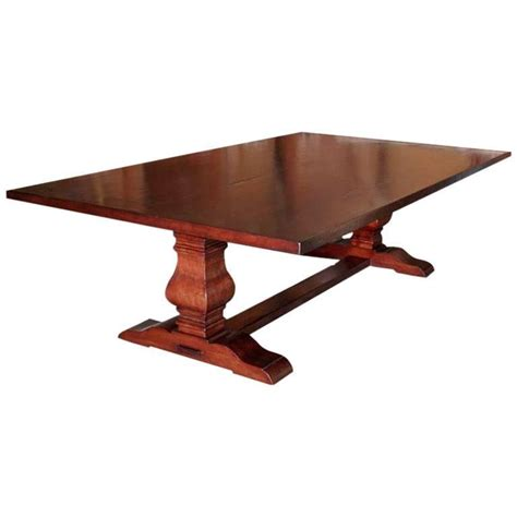 Dining Table Or Trestle Table In Distressed Cherrywood For Trestle Dining Table Sale