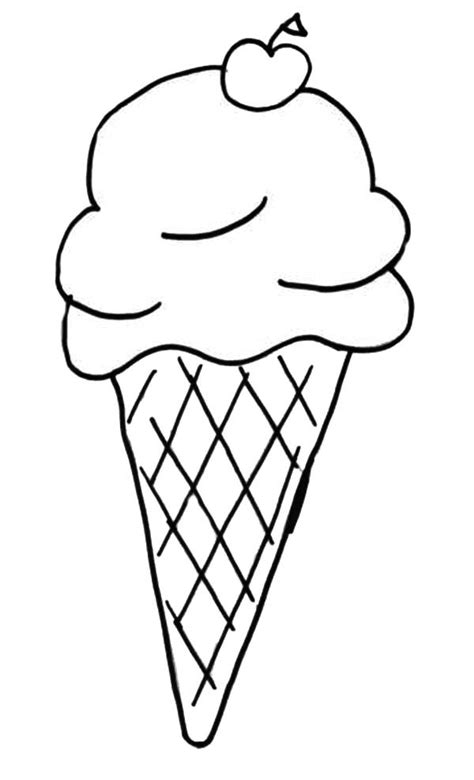 preschool ice cream coloring pages ice cream cone coloring sheet 22599 for page prepare 17