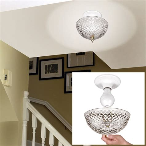 Clip On Light Shade Diamond Cut Acrylic Dome Lightbulb Ceiling Light Covers