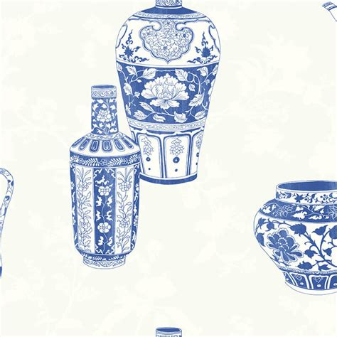 blue wallpaper porter vase nina hancock vases china blue wallpaper nh11512