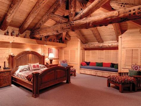 cabin bedrooms inside log cabin bedroom my dream house pinterest