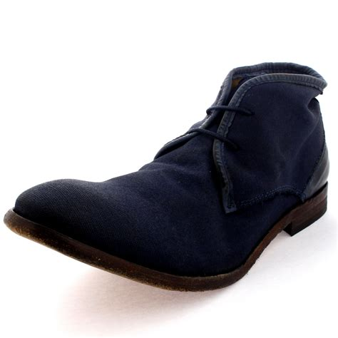 mens canvas ankle boots mens h by hudson cruise ankle boot canvas laced work