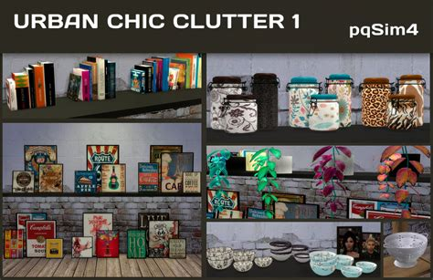 clutter 4 custom content sims urban chic clutter 1 sims 4 custom content