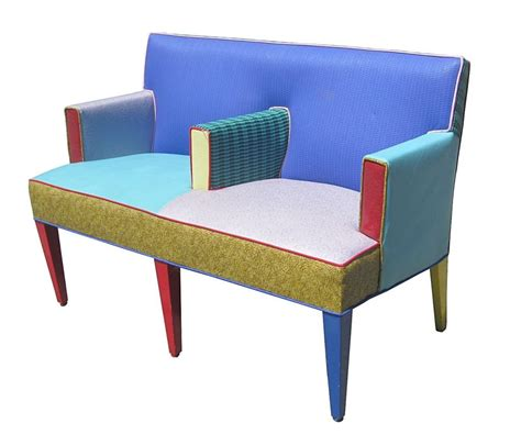 furniture settee ettore sottsass settee for memphis furniture circa 1960s