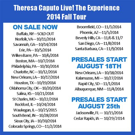 theresa caputo fan presale code archives an evening with theresa