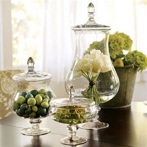 simple things for decorating your home apothecary jars