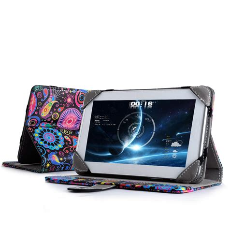 Casing Tablet universal 7 quot inch pu leather wallet cover folio stand
