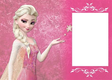 printable birthday cards elsa photo montage elsa s birthday invitation pixiz