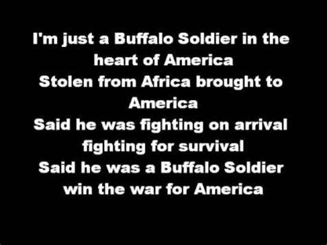 Bob Marley Buffalo Soldier Lyrics Youtube Bob Lyrics