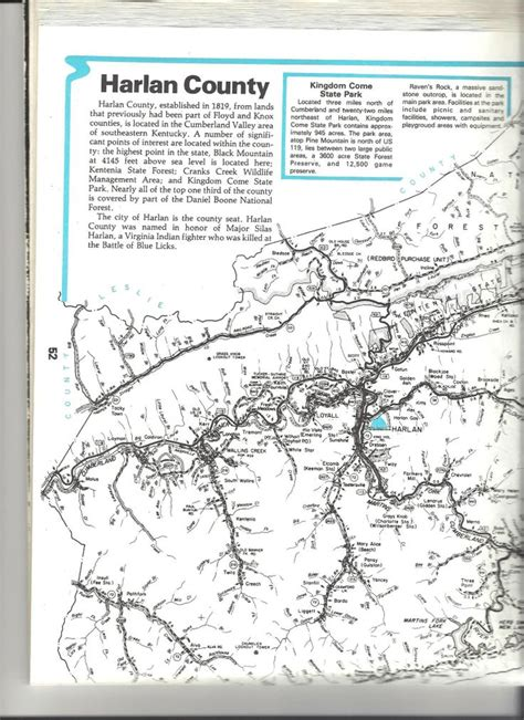 kentucky map harlan county map of harlan ky see the usa