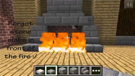 How To Make A Fireplace In Minecraft Pe by Minecraft Pe Fireplace Designs
