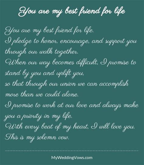 Wedding Blessing Vows by You Are My Best Friend For Wedding Vows Wedding