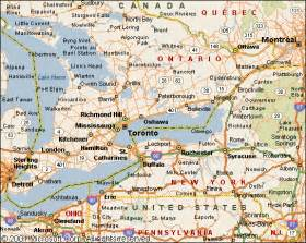 detailed map of ontario canada map southern ontario search toronto trip