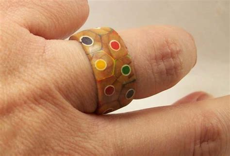 colored pencil ring how to make a custom craft ring using colored pencils and glue