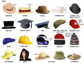All Types Of Types Of Hats Vocabulary Learning