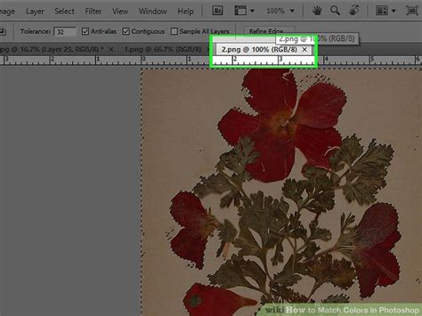 photoshop match color how to match colors in photoshop with pictures wikihow