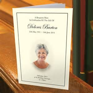 funeral order of service template free uk funeral order of service template