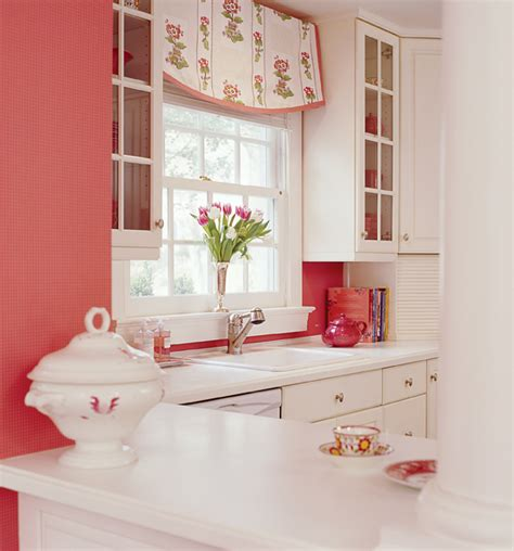 pink wallpaper kitchen it s all about hue bethesda magazine january february