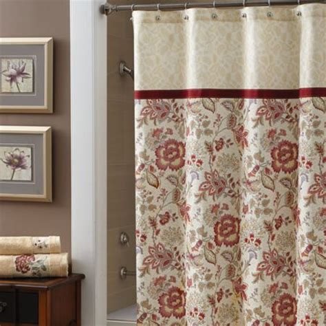jacobean shower curtain croscill romance shower curtain intricate jacobean