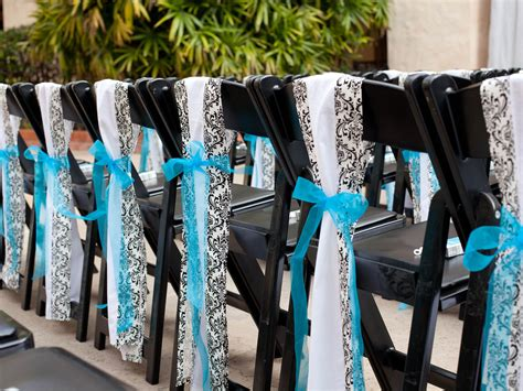 turquoise black and white wedding chair idea wedding chair ideas wedding