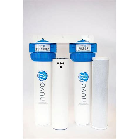 nuvoh2o complete salt free water softener system 50 000