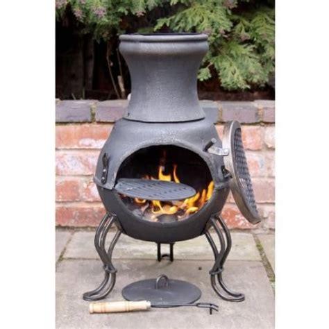 Wood Burning Patio Heaters Cast Iron Chimenea Chiminea Garden Patio Heater Barbeque Wood Burning Stove Bbq Ebay