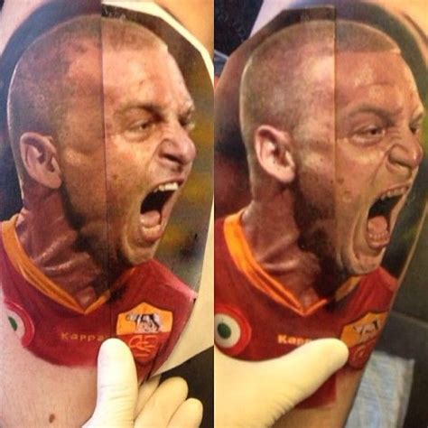 de rossi tattoo a portrait of daniele de by artist alex de