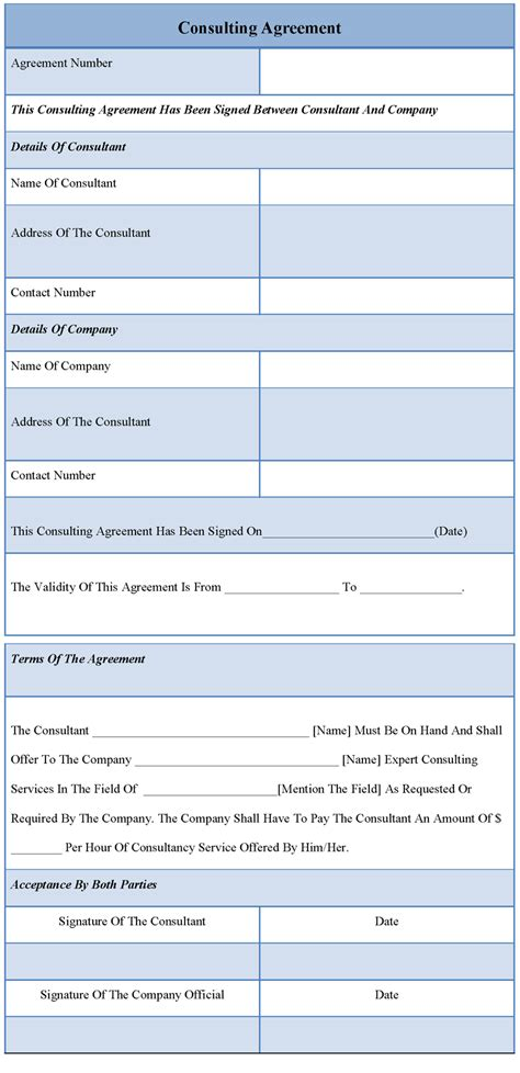 consulting template agreement template for consulting sle of consulting