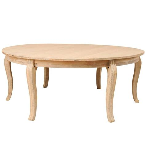 lovely round bleached wood large dining table with