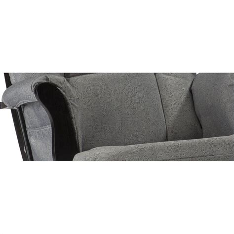 grey and white glider and ottoman custom glider and ottoman in white and slate gray 06554 551