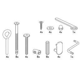 Ikea Toddler Bed Screws Ikea Hensvik Crib Replacement Parts Furnitureparts