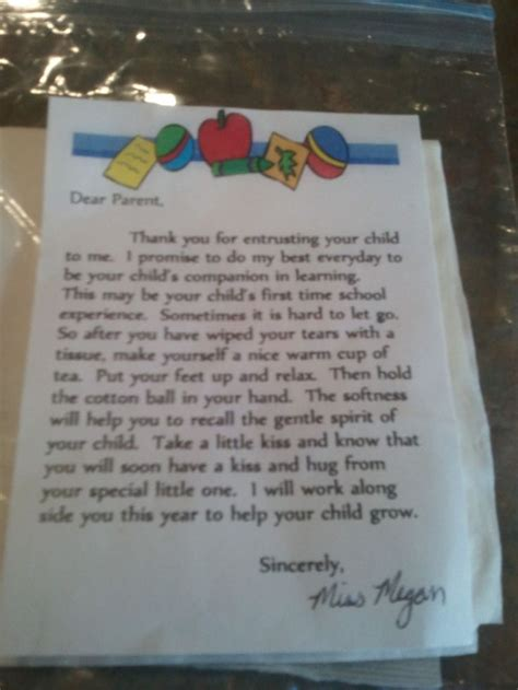 Parent Letter Exles Day Of School cody s day of preschool back to school ideas