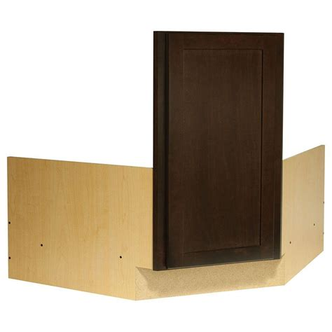 corner kitchen sink base cabinet hton bay shaker ready to assemble 36x34 5x24 in corner