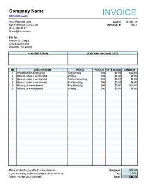 free fillable invoice template pin by sharleen on fundraiser