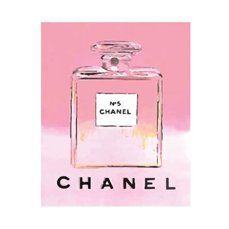 Channel Pink pink chanel no 5 no 5 no5 perfume bottle pop