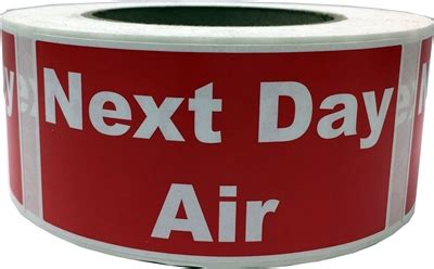 2 x 4 quot next day air shipping labels