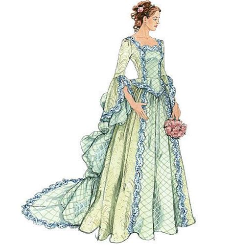 sewing pattern victorian victorian costume steunk costume victorian wedding